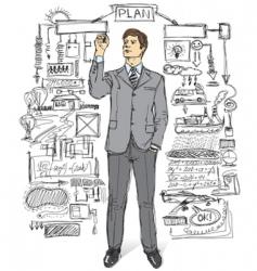 Businessman comments vector