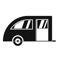 Camping trailer icon simple style vector