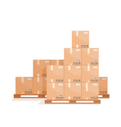 cardboard packaging boxes vector image