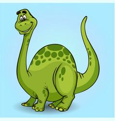 cartoon dinosaur cheerful on light background vector image