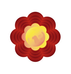 Chinese decorative flower on white background vector