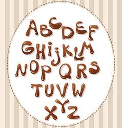 Chocolate alphabet vector