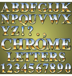 Chrome Metal Letters vector