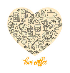 coffee line icon icons enclosed in the shape of vector image