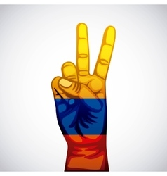 colombian peace hands symbol vector image vector image