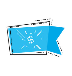commercial tag hanging with price vector image