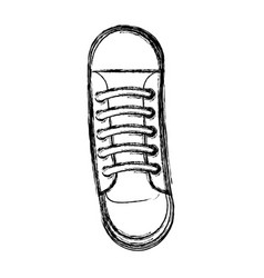 Cute sketch draw shoe cartoon vector