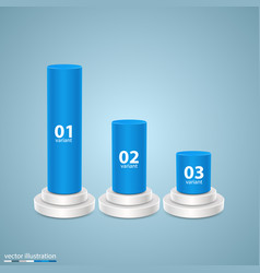 Data 3d growth chart art info vector