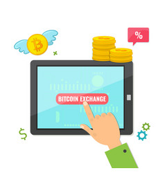 digital marketing bitcoin exchange concept vector image
