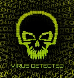 Digital skull virus vector image
