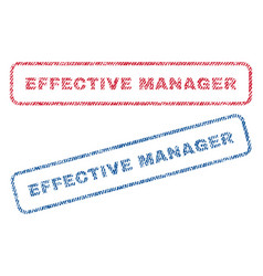 Effective manager textile stamps vector