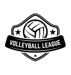 emblem template with volleyball ball isolated vector image
