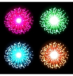 Festive firework bursting in glowing sparkles vector image