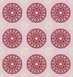 filigree ornament on gray background for design vector image