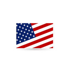 flat and waving american flag vector image