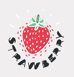 fruit strawberry icon vector image