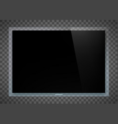 futuristic television set device vector image