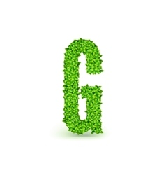 Green Leaves font G vector image