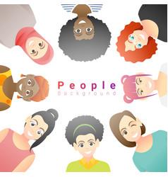 group happy multi ethnic women vector image