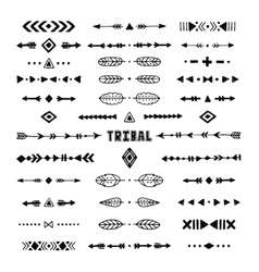 Hand drawn tribal collection with stroke line vector