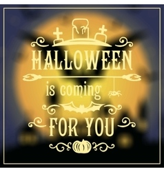 Happy Halloween message design on unfocused vector image