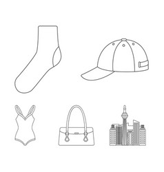 hat sock bag swimsuit and other clothes vector image vector image