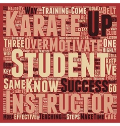 How Karate Instructors Can Motivate Students In vector image