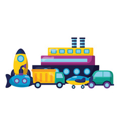kids toys design vector image