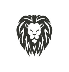 lion symbol isolated on white background vector image