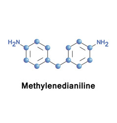 Methylenedianiline organic compound vector