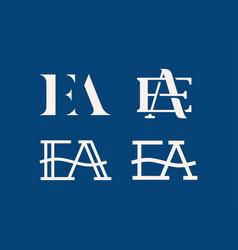 modern professional logo ea monogram in vector image