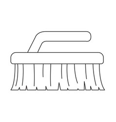 monochrome silhouette of cleaning brush vector image