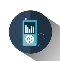 mp3 music player isolated icon vector image