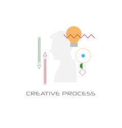new business idea imagination creative process vector image