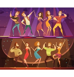 Night Club Disco Dance Banners Set vector image