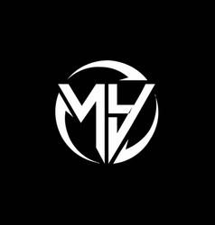 Ny logo monogram design template vector