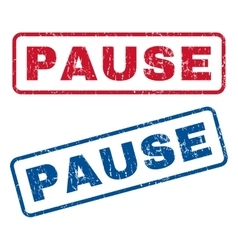Pause rubber stamps vector