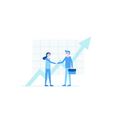 peoples handshake and pointer vector image
