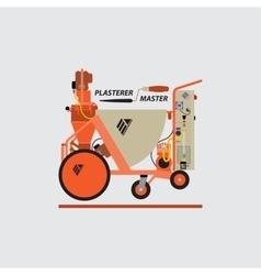 Plastering Machines vector image