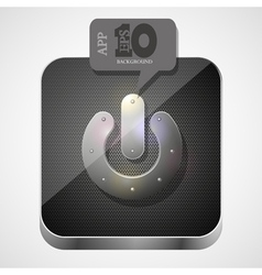 Power app icon vector image