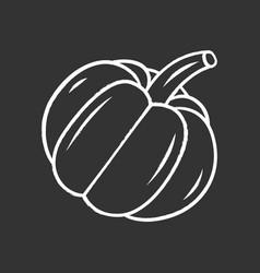pumpkin chalk icon vector image