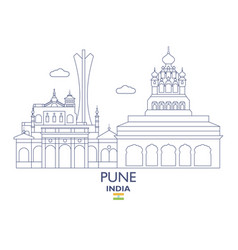 Pune city skyline vector
