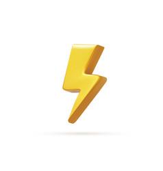 realistic bolt lighting thunder emblem icon vector image