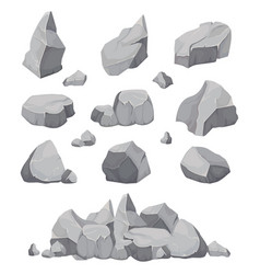 Rock stones graphite stone coal and rocks pile vector