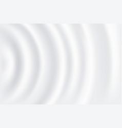 Round ripple on cream milk or yogurt surface vector