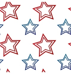 Samless pattern with red and blue stars vector image