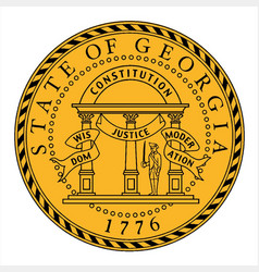 Seal of georgia vector