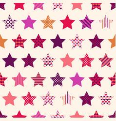 seamless stars symbol modern hipster pattern vector image