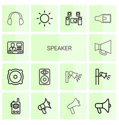 Speaker icons vector