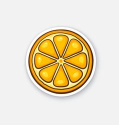 sticker slice orange vector image